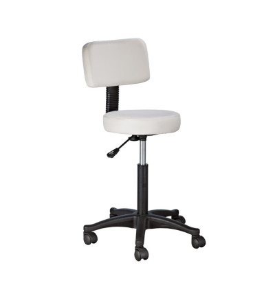 Stool with adjustable backrest