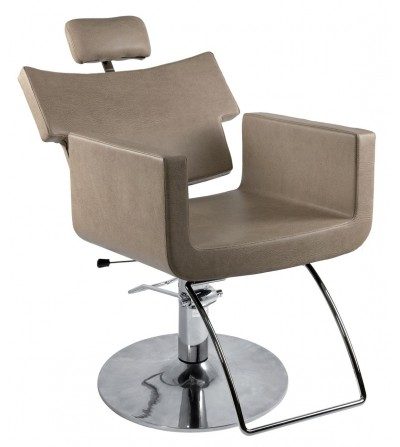 High quality pivoting hair salon and barber salon styling chair with hydraulic jack and reclinable backrest