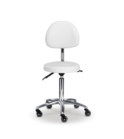 Stool with backseat for beauty institute and SPA